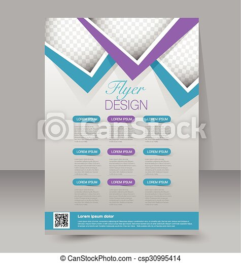 Flyer Template Business Brochure Editable A4 Poster For Vector