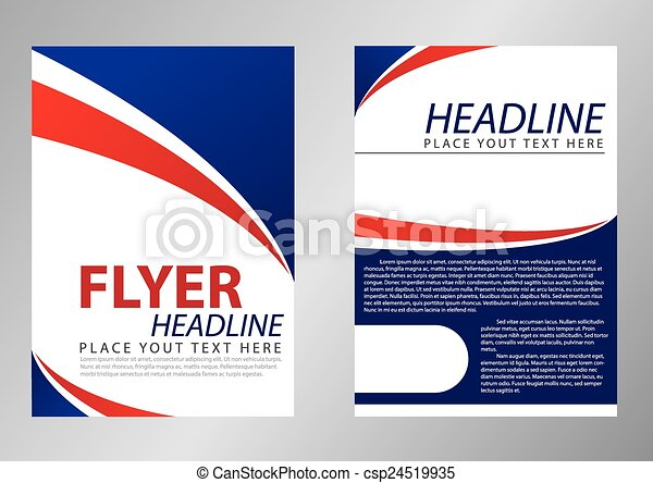 Flyer template design for corporate - csp24519935