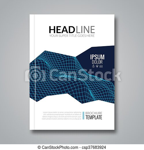 Flyer Template Technology Brochure Layout Tamplate Vector
