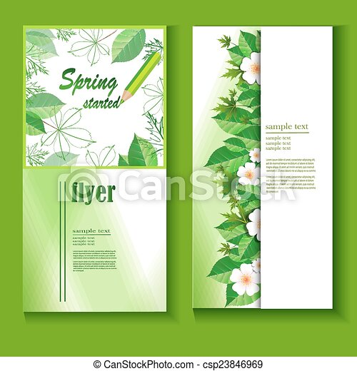 Flyer template with a fresh spring background. Design templates with ...