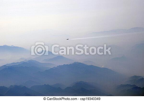 Flying aircraft - csp19340349