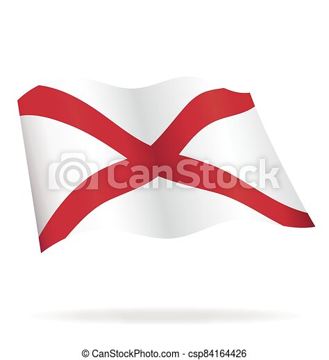 flying alabama al state flag vector - csp84164426