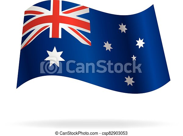 flying australian flag vector - csp82903053