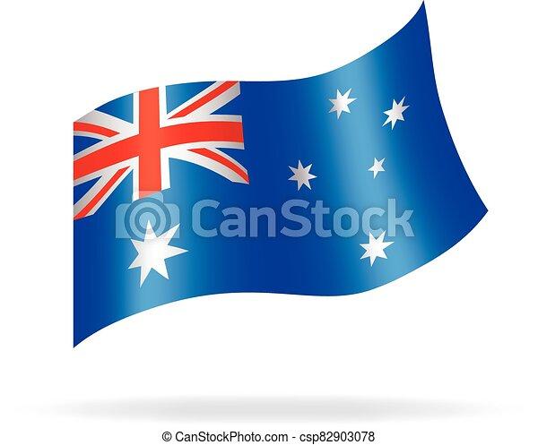 flying australian flag vector - csp82903078