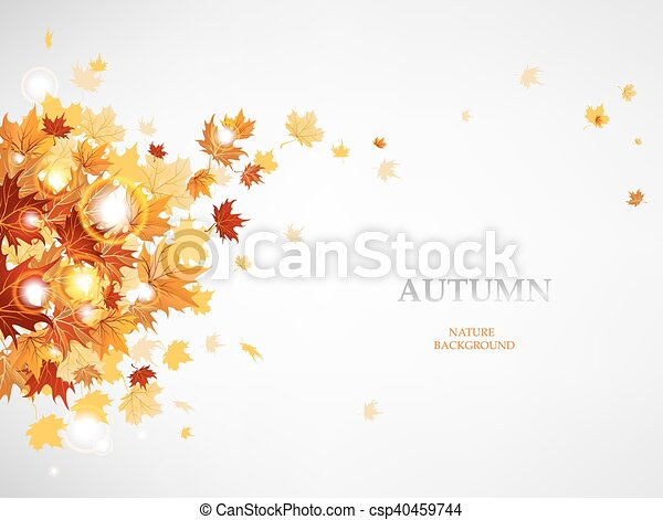 Flying autumn leaves - csp40459744
