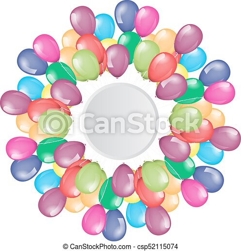 Flying balloons border with circle empty space for your text or flying balloons border with circle empty space for your text or design illustrated vector thecheapjerseys Gallery