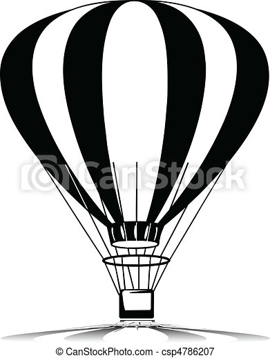 flying baloon vector silhouettes - csp4786207