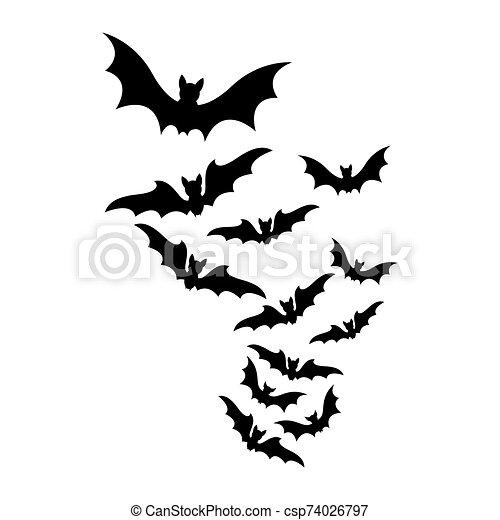 Bats clipart five, Bats five Transparent FREE for download on  WebStockReview 2020
