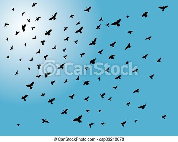 flying birds - csp33218678