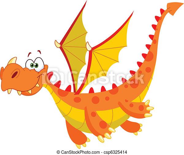 Flying dragon - csp6325414