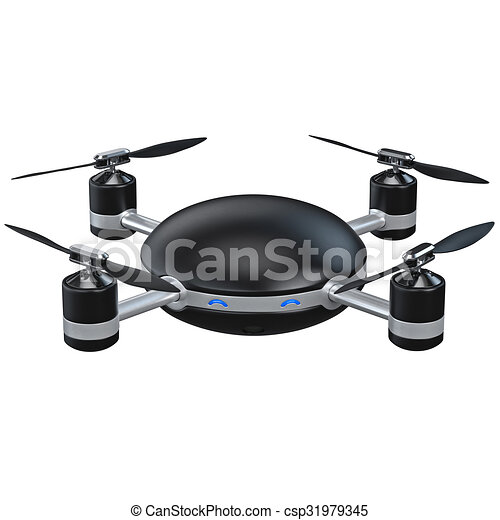 Flying Drone With Camera Stock Illustration