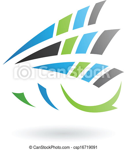 Flying Dynamic Abstract Arrows Icon - csp16719091