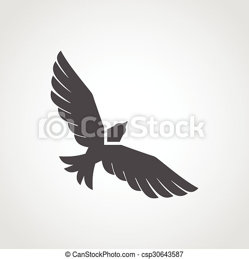 Flying Eagle Icon - csp30643587