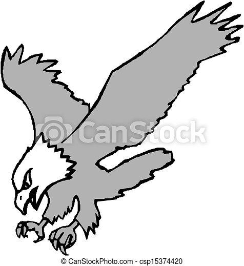Flying Eagle - csp15374420