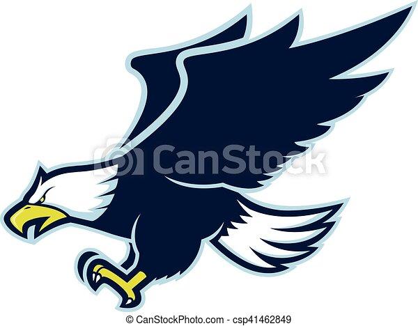 Flying eagle mascot - csp41462849