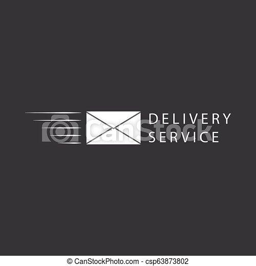 Flying envelope, logo or icon design - csp63873802