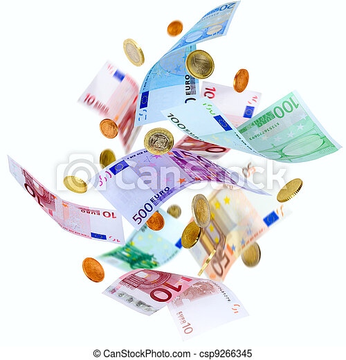 Flying Euro money - csp9266345