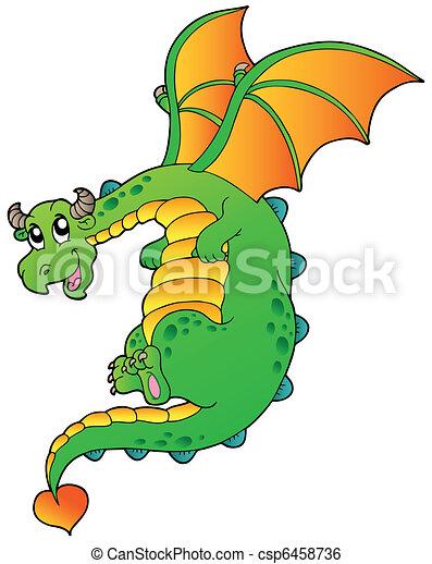 flying fairy tale dragon vector illustration clip art vector rh canstockphoto com fairy tale clipart free fairytale clipart border