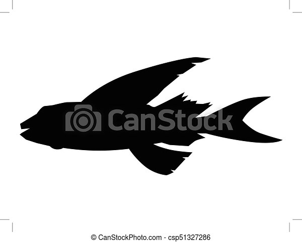 flying fish, side view - csp51327286