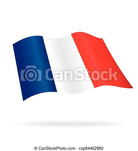 flying flag france vector - csp84462980