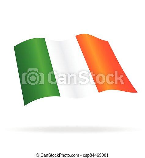 flying flag ireland vector - csp84463001