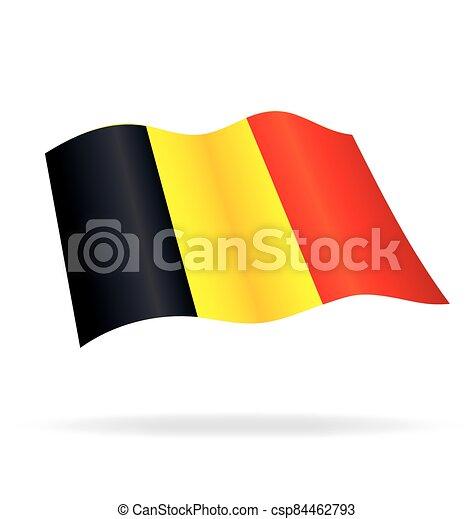 flying flag of Belgium vector - csp84462793