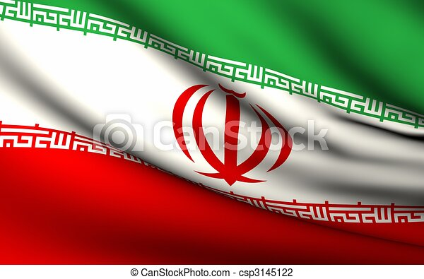 Flying Flag of Iran | All Countries Collection | - csp3145122