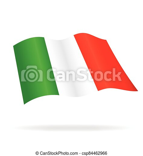 flying flag of Italy vector - csp84462966