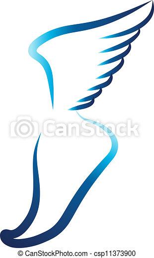 Flying foot - csp11373900