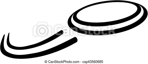 flying frisbee vector search clip art illustration drawings and rh canstockphoto com frisbee golf clipart frisbee clipart black and white