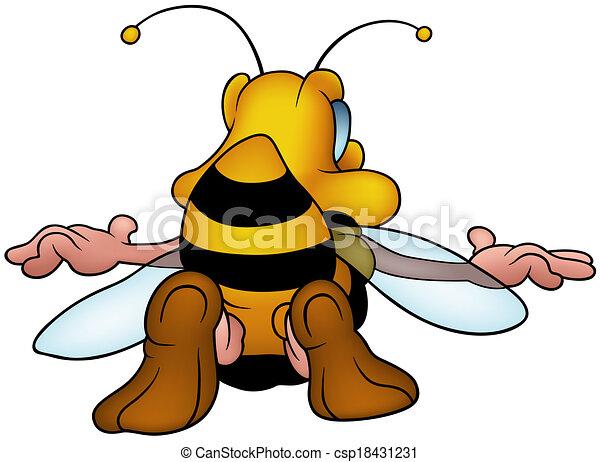 Flying Honeybee - csp18431231