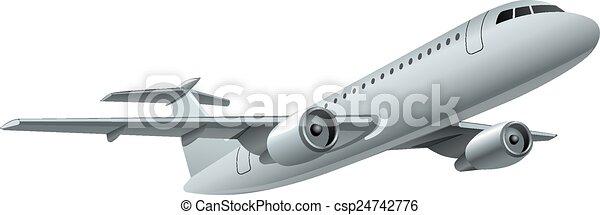 flying jet - csp24742776