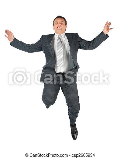 Flying man in suit - csp2605934