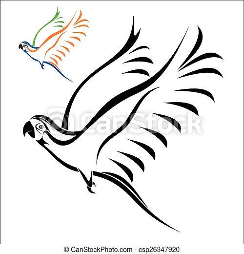 Flying parrot - csp26347920