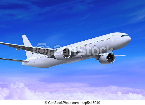 flying plane - csp5418040