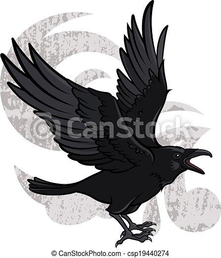 Flying Raven - csp19440274