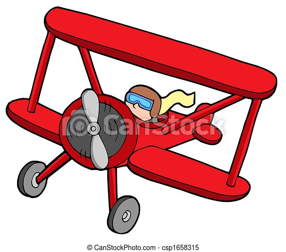 flying red biplane isolated illustration stock illustrations rh canstockphoto com airplane clipart no background biplane clipart