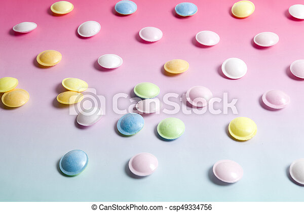 flying saucer multi coloured candy - csp49334756