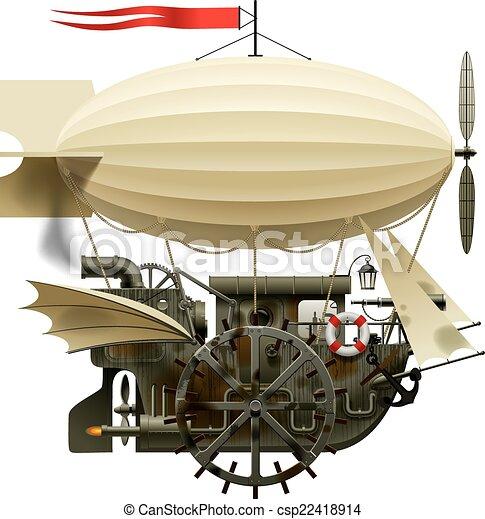 Flying Ship - csp22418914
