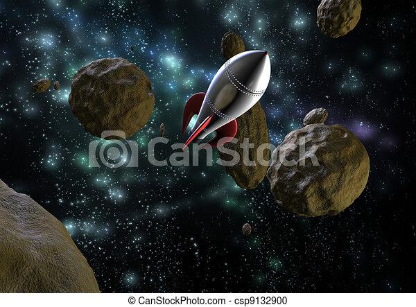 flying space rocket - csp9132900