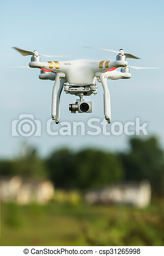 Flying Surveillance Drone  - csp31265998