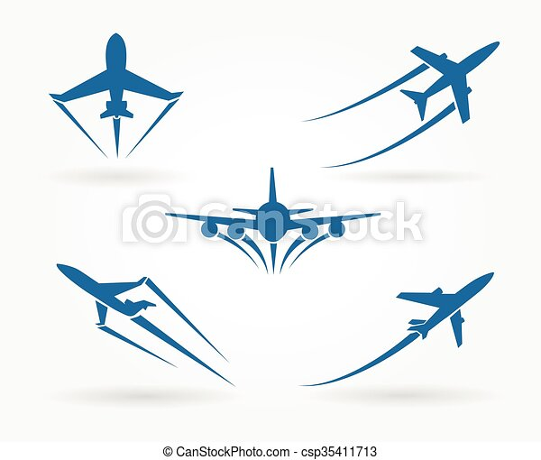 flying up airplane icons takeoff plane symbol vector vector rh canstockphoto com clip art plane tickets clipart plane flying