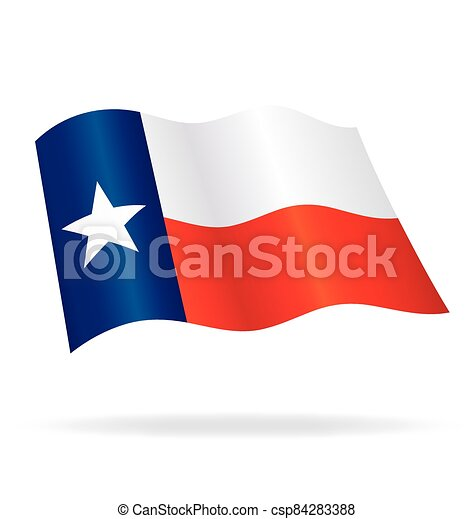 flying waving texas state flag vector - csp84283388