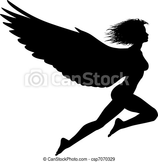 Flying woman - csp7070329