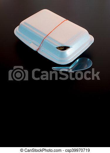 Foam box and Plastic packaging of Street food - csp39970719