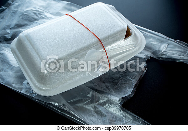 Foam box and Plastic packaging of Street food - csp39970705