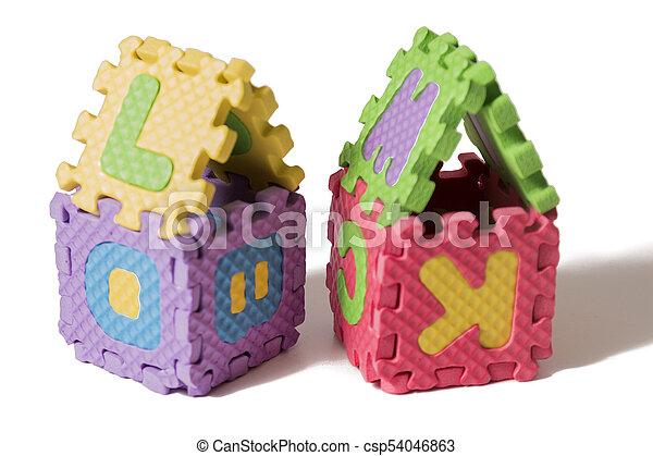Foam puzzle houses - csp54046863
