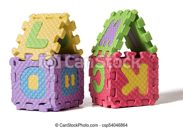 Foam puzzle houses - csp54046864
