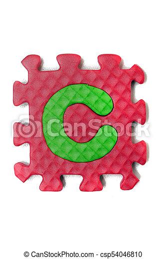 Foam puzzle letter uppercase - csp54046810