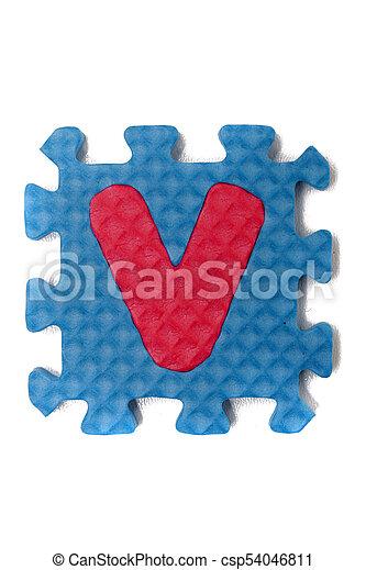 Foam puzzle letter uppercase - csp54046811